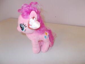 """4/"""" TY Beanie Babies My Little Pony Sparkle Pinkie Pie Pendant Plush Stuffed Toys"""