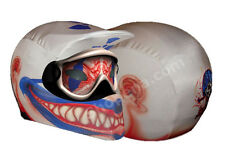 Clown Motorcycle Helmet Cover White Blue Red Off Road Skin MX Dirt Bike ATV +