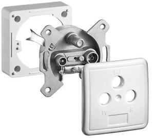 Komplett-Set-3-Loch-Antennen-Dose-1-dB-DC-Durchgang-Komplett-Set-3-Loch-Ant