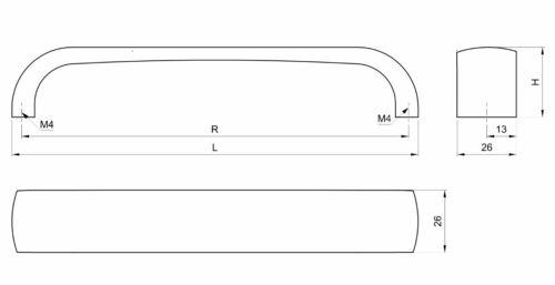 Möbelgriff Möbelgriffe Küchengriff Schrankgriff Türgriffe Griff A010