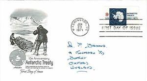 Estados Unidos de América USA 1971 10TH Ann Tratado Antártico Artmaster FDC