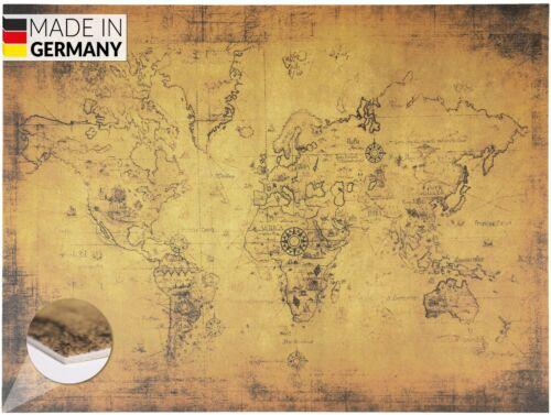 Made in Germany Schreibtischunterlage Vintage Braunalte Weltkarte70x50cm