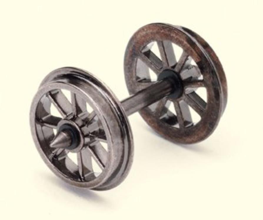 10 Piece Spoked Wheel Axles Set - Hornby R8098 Wheels 00 Gauge Couplings