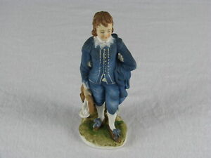 Vintage-Lefton-China-Blue-Boy-Figurine-KW387-LE-Figure-Japan-Gold-Label