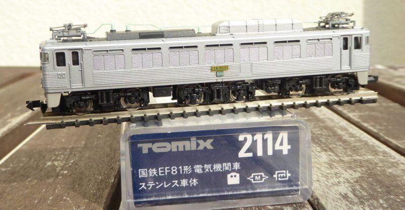 Tomix 2114 Scala N Elektro-Lokomotive Ef 81-304 Argento Jnr Giappone Neuwertig
