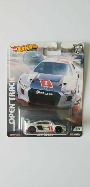 HOT WHEELS PREMIUM CAR CULTURE OPEN TRACK WHITE AUDI R8 LMS