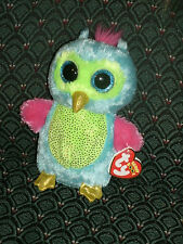 """Ty Boo OPAL( Blue/pink/green OWL ) 6"""" Mint/Mint tag * RARE * JUSTICE Exclusive"""