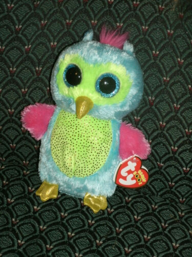 """RARE Ty Boo OPAL 6/"""" Mint//Mint tag JUSTICE Exclusive Blue//pink//green OWL"""