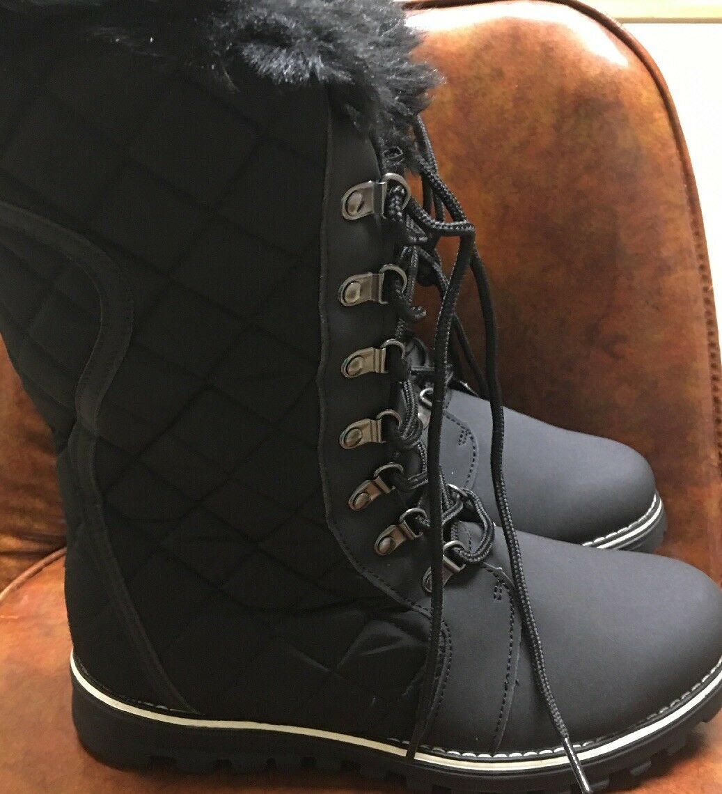 Damens Refresh Polar-01 Mixed Media Mid-Calf Boot Quilted Lace Up Winter Boot Mid-Calf US 9 6f8bba