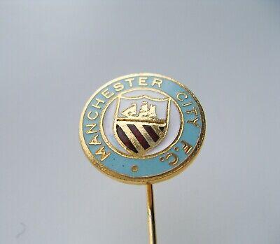 MANCHESTER CITY FC PIN BADGE BUTTON ENAMEL OFFICIAL FOOTBALL SOCCER CLUB TEAM