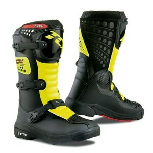 TCX-Comp-Kids-Black-Fluo-Yellow-MX-Motocross-Motorcycle-Boots-New-RRP-139-99
