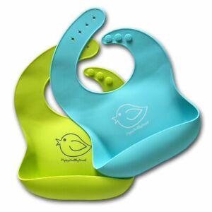 Silicone Baby Bibs Easily Wipe Clean - Comfortable Soft Waterproof Bib Keeps Set