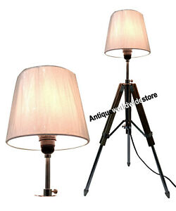 Nautical-Marine-Table-Lamp-Wooden-Tripod-Home-Decoration