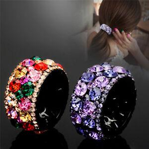 Crystal-Diamond-Hairband-Headband-Hair-Clip-Claw-Ponytail-Holder-MiniHairband-Js