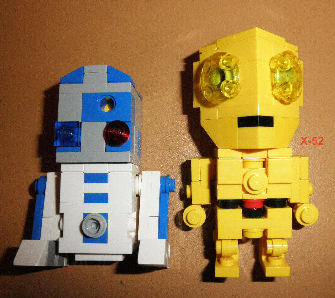 SDCC LEGO Cube Dudes (Brick Heads) STAR WARS droids R2-D2 C-3PO figure TOY