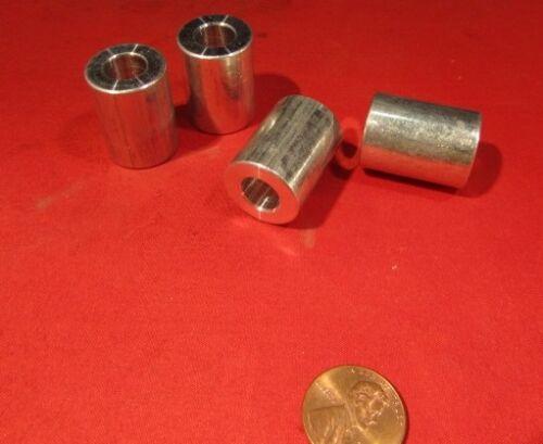 """4 pcs Aluminum Spacer 3//8/"""" Vis 3//4/"""" OD X .380 ID X 1/"""" Longueur No"""