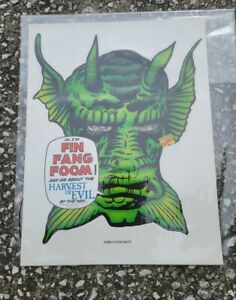 FIN FANG FOOM MASK 12X16 RARE COMPLETE DETACHED MARVEL 1991 NOS FREE S&H