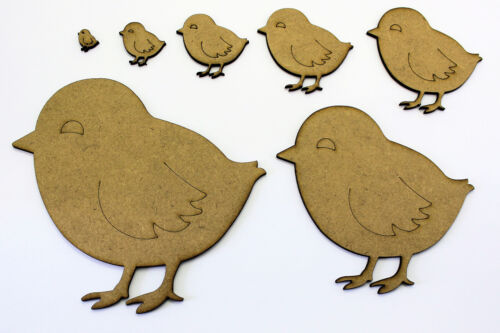 2mm MDF Wood Easter Chick // Chicken Craft Shapes Tags Embellishments