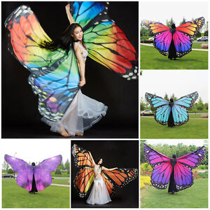 Adults-Kids-Butterfly-Wing-Cape-Scarf-Pashmina-Butterfly-Costume-Dance-360-Gift