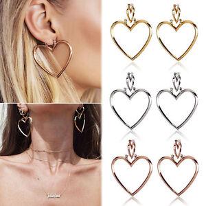 Charm-Women-Dangle-Earrings-Hollow-Out-Double-Heart-Hoop-Metal-Ear-Stud-Jewelry