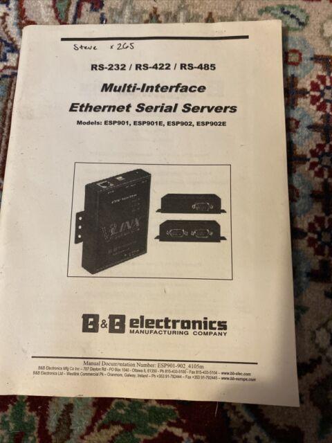 B&B ELECTRONICS ESP901 V-LINX ETHERNET SERIAL SERVER