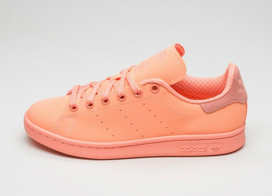 ADIDAS Stan Smith Adicolor ORIGINALS Leather Trainers Sunglow colorWay.