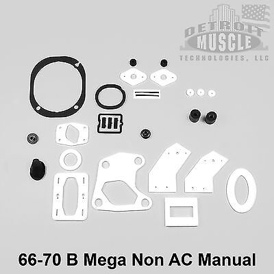 Mopar B Body 1966 66 1967 67 Coronet Rear Bumper Rubber Filler Strip Seal DMT