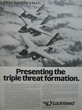 10/1981 PUB LOCKHEED S-3A VIKING US NAVY TANKER SUB HUNTER ELECTRONIC WARFARE AD