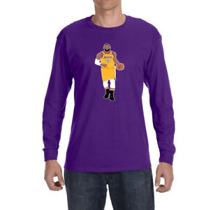 Image is loading Los-Angeles-Lakers-Lebron-James-Long-sleeve-shirt 00f5b7212