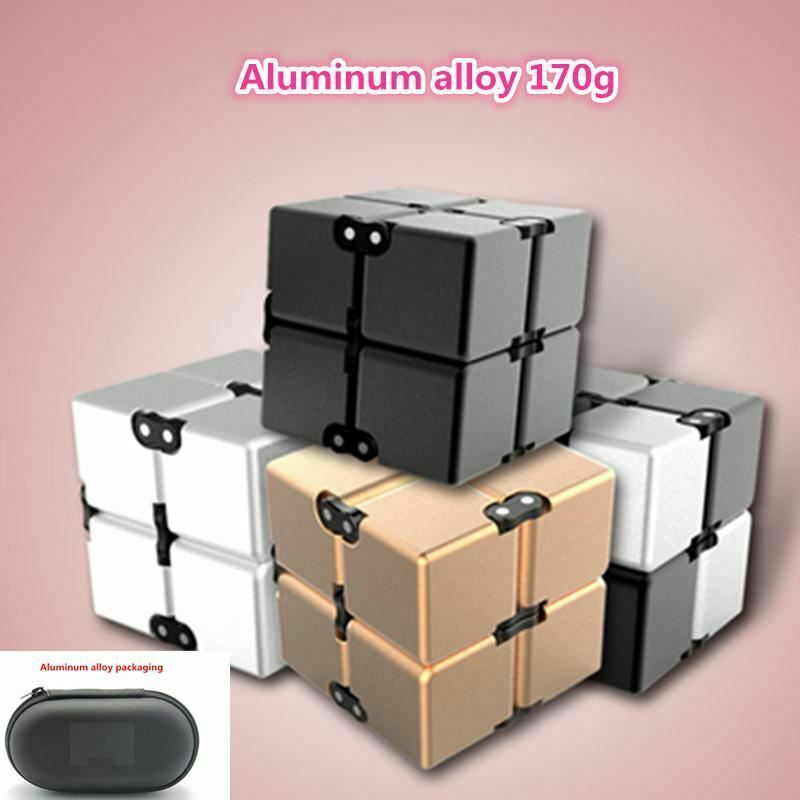 Aluminium Alloy Infinity Cube Magic Cube Fidget Toy Metal Rubik High Quality Nov