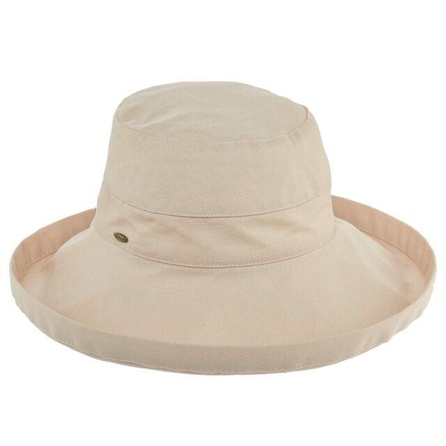 Sun Hat 15 Colors Scala Women/'s Dorfman Pacific Cotton Big Brim UPF 50