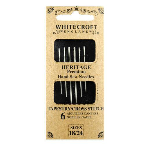 Whitecroft Heritage Tapestry//Cross Stitch Needles 18//24 86811
