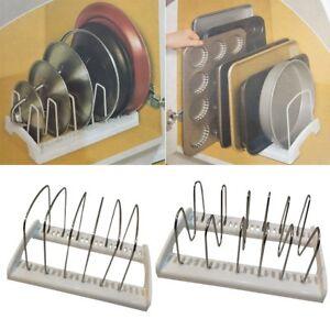 Kitchen Cabinet Pot Pan Lid Storage Shelf Drawer Organizer ...
