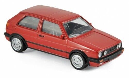 NOREV 840062 - 1/43 SCALE VOLKSWAGEN GOLF GTI G60 1990 RED MODEL CAR