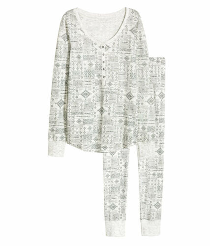 M  hellgrau gemustert  NEU S H/&M  Schlafanzug  Pyjama Gr