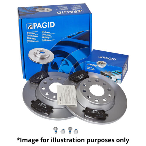 GENUINE PAGID REAR AXLE BRAKE KIT BRAKE DISCS 54729 Ø268,5 mm /& BRAKE PADS T039