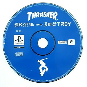 Trasher-Skate-and-Destroy-Playstation-PS1-Disque-seul-PAL-FR