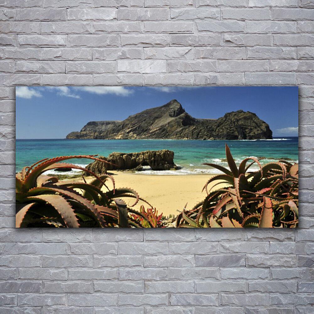 Photo sur toile Tableau Image Impression 120x60 Paysage Plage Rochers Mer