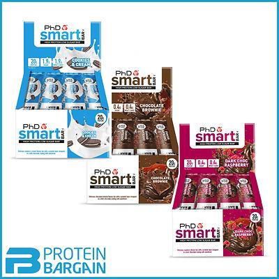 PHD Nutrition Smart Bars 12 x 64g - Low Sugar - Low Carbs - Amazing Taste