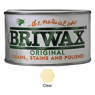 Briwax  CLEAR  Wax Furniture  Polish for Wood Cleaner Restorer 400g Tin