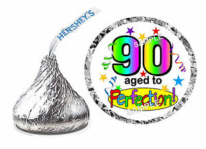 Image Is Loading 216 90th BIRTHDAY PARTY FAVORS HERSHEY KISS KISSES