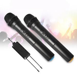 2 stück Drahtlose Mikrofon Handheld mit Empfänger für Karaoke Rede