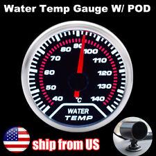 New Universal 52mm 2 Water Temp Temperature Gauge Sensor Dashboard With Gauge Pod