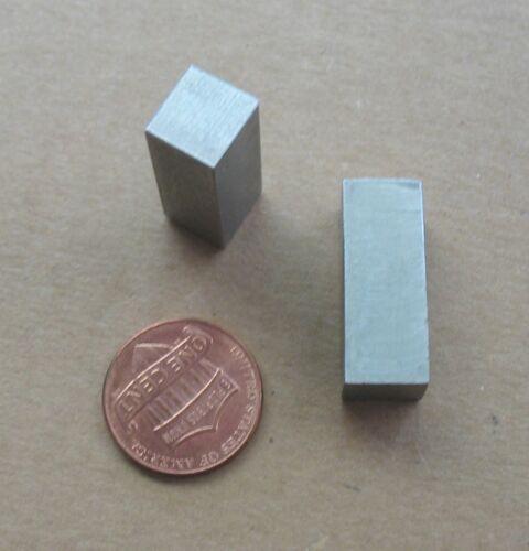 """Aluminum Alloy Rectangular Bar Stock Pieces ~11//32 x 3//8/"""" x ~1/"""" Long Lot 2"""