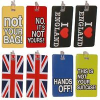 2 x Novelty Fun Luggage Suitcase School BagName Tags Address Label Travel