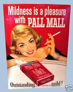 PALL-MALL-WOMAN-CIGARETTE-LITHOGRAPH-ADVERTISING-SIGN
