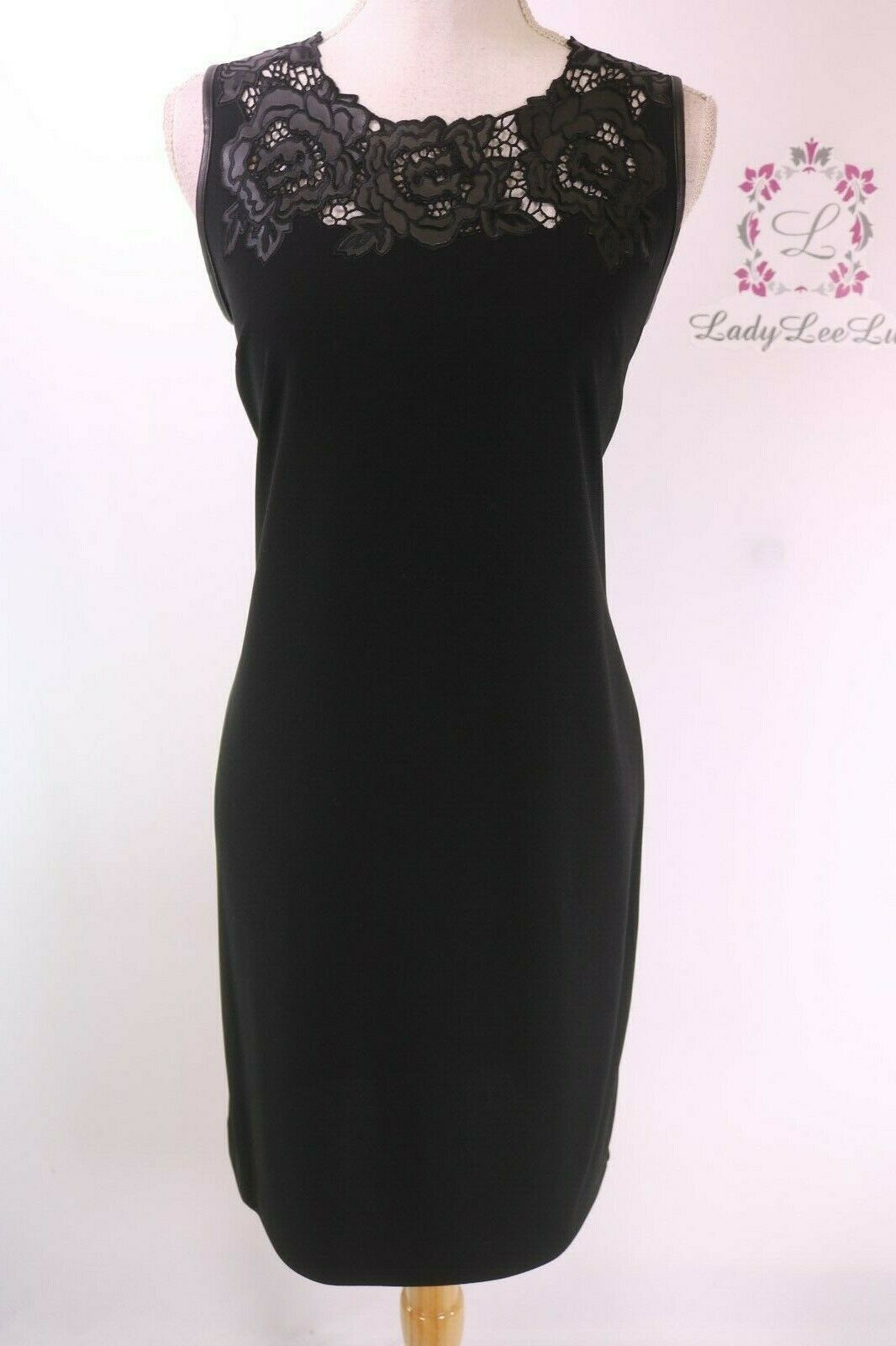 KARL LAGERFELD PARIS Floral Lace Sleeveless Shift Dress L8FD7980 Größe 6 8 NWT