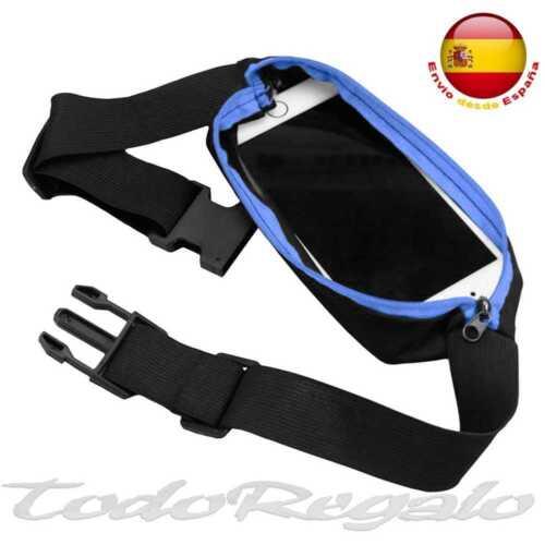 Riñonera Deportiva Bolsa Individual Simple Cintura Running Sport Cinturon Azul