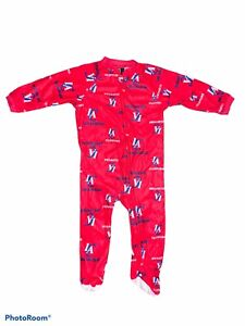 NBA Los Angeles Clippers Team Logo Fleece Sleeper Baby Pajamas 24 month NEW!!