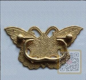 Chinese antique beautiful butterfly style brass drawer for Asian furniture hardware drawer pulls